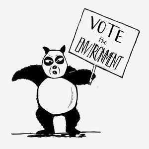 Vote Panda Bear by Alfredo Ferreiro