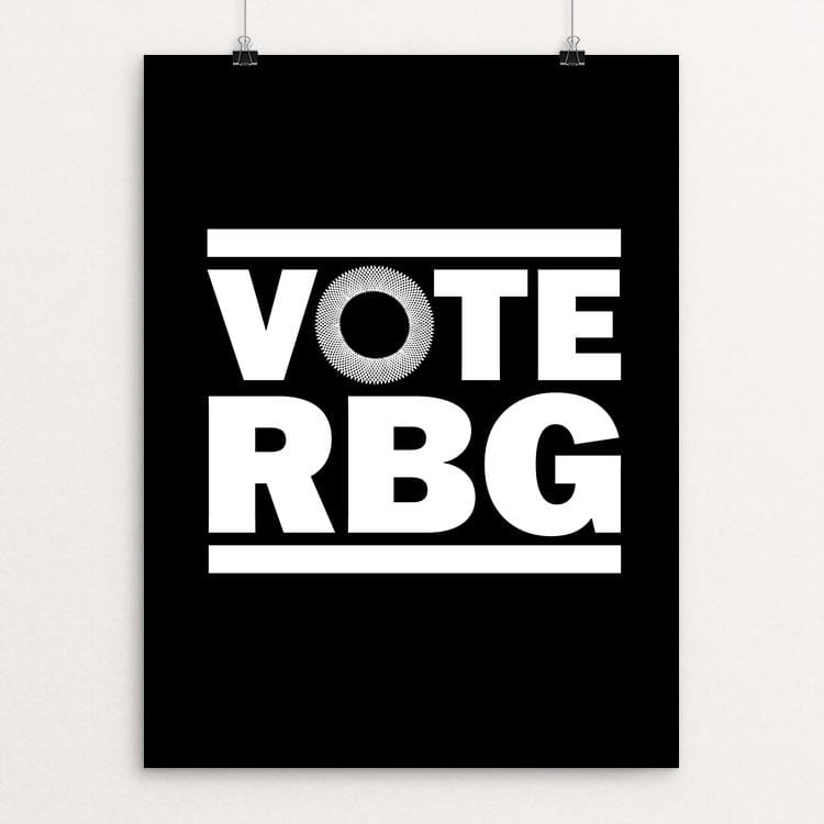 "VOTE RBG Poster by Mark Forton 18"" by 24"" Print / Unframed Print Creative Action Network"