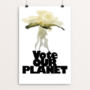 "Vote the Air by Lyla Paakkanen 12"" by 18"" Print / Unframed Print Vote Our Planet"