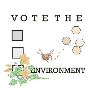 "Vote the Bees by Emily Winter 12"" by 12"" Print / Unframed Print Vote the Environment"
