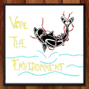 "Vote The Enviornment by Aylin Roman Silva 12"" by 12"" Print / Unframed Print Vote the Environment"