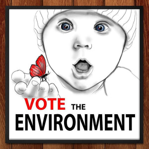 "Vote the Environment 1 by Olesya 12"" by 12"" Print / Framed Print Vote the Environment"