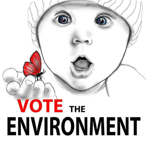 "Vote the Environment 1 by Olesya 12"" by 12"" Print / Unframed Print Vote the Environment"