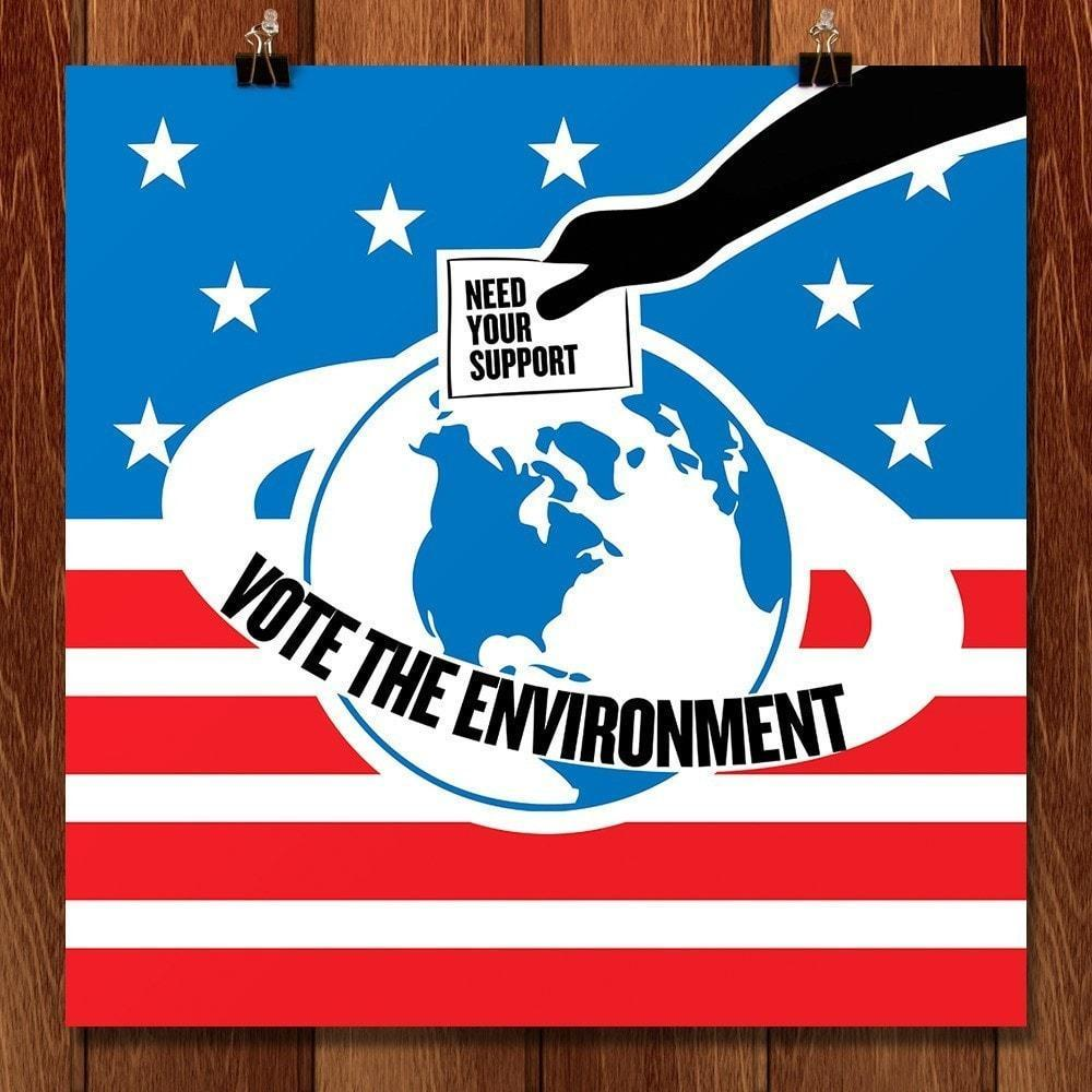 "Vote the Environment 1 by Vikram Nongmaithem 12"" by 12"" Print / Unframed Print Vote the Environment"