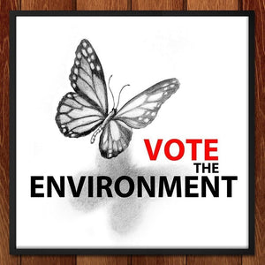 "Vote the Environment 2 by Olesya 12"" by 12"" Print / Framed Print Vote the Environment"