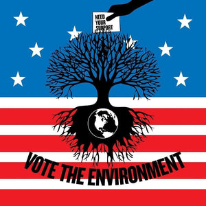 "Vote the Environment 2 by Vikram Nongmaithem 12"" by 12"" Print / Unframed Print Vote the Environment"