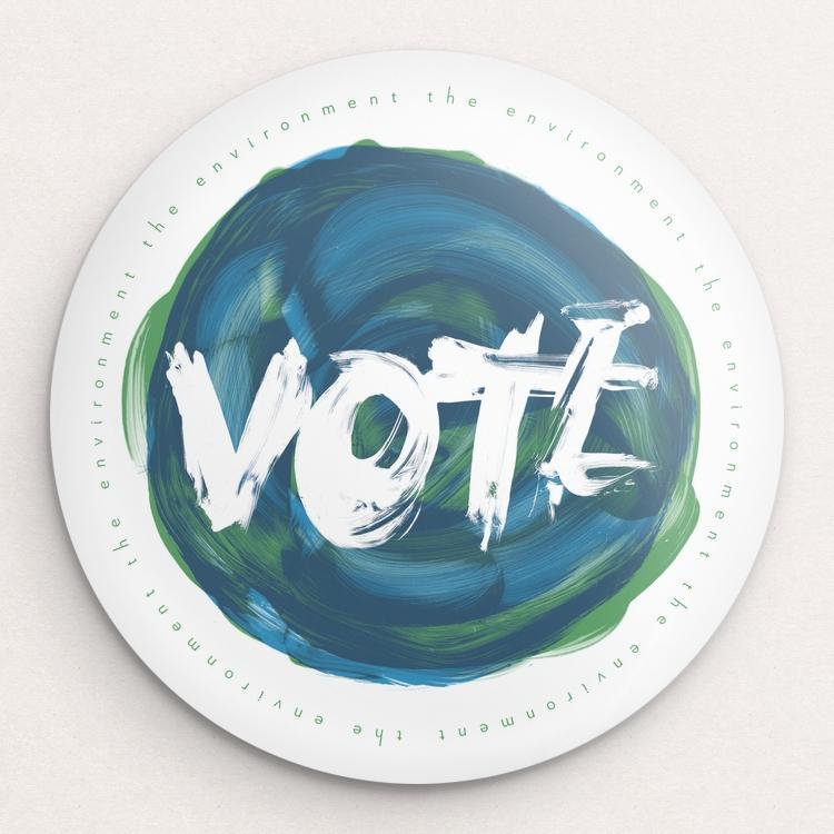 VOTE the Environment Button by Mark Forton Single Buttons Vote!