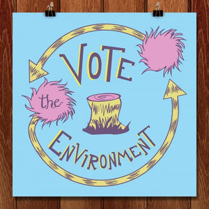 "Vote The Environment by Alex Hoeffner 12"" by 12"" Print / Unframed Print Vote the Environment"