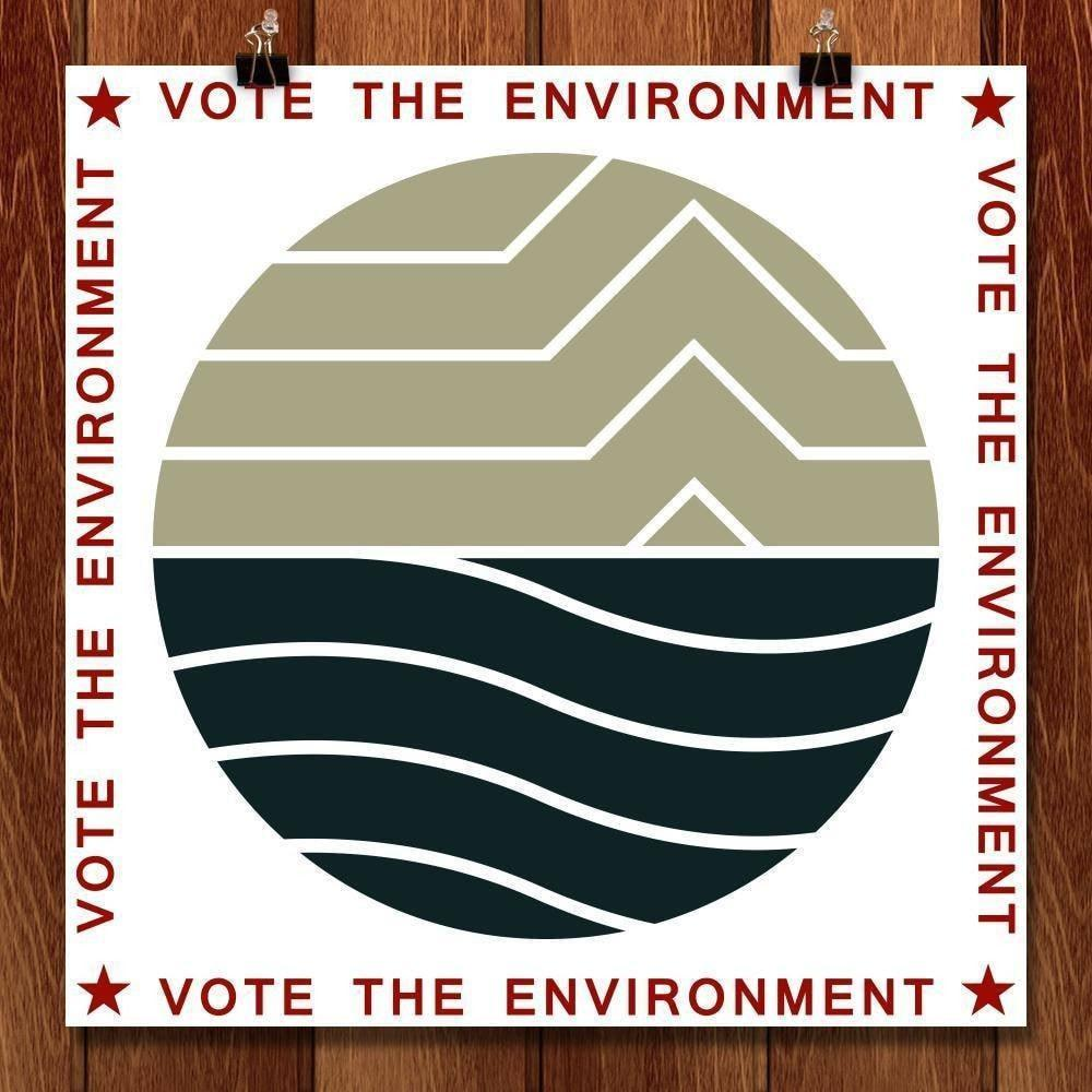 "Vote the Environment by Bradley Abner 12"" by 12"" Print / Unframed Print Vote the Environment"