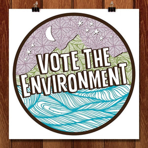 "Vote the Environment by Daniel Gross 12"" by 12"" Print / Unframed Print Vote the Environment"