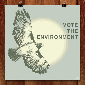 "Vote the Environment by Robin Lazzara 12"" by 12"" Print / Unframed Print Vote the Environment"