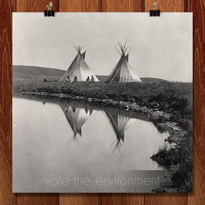 "Vote the Environment by Roger Gottlieb 12"" by 12"" Print / Unframed Print Vote the Environment"