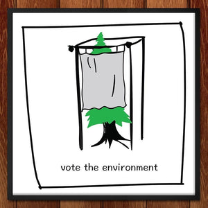"Vote the Environment by Sofia Strempek 12"" by 12"" Print / Unframed Print Vote the Environment"