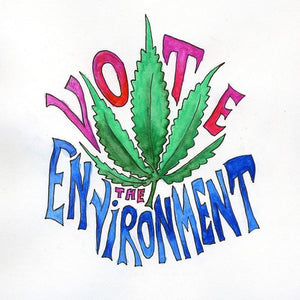 "Vote the Environment by Susan K Guy 12"" by 12"" Print / Unframed Print Vote the Environment"