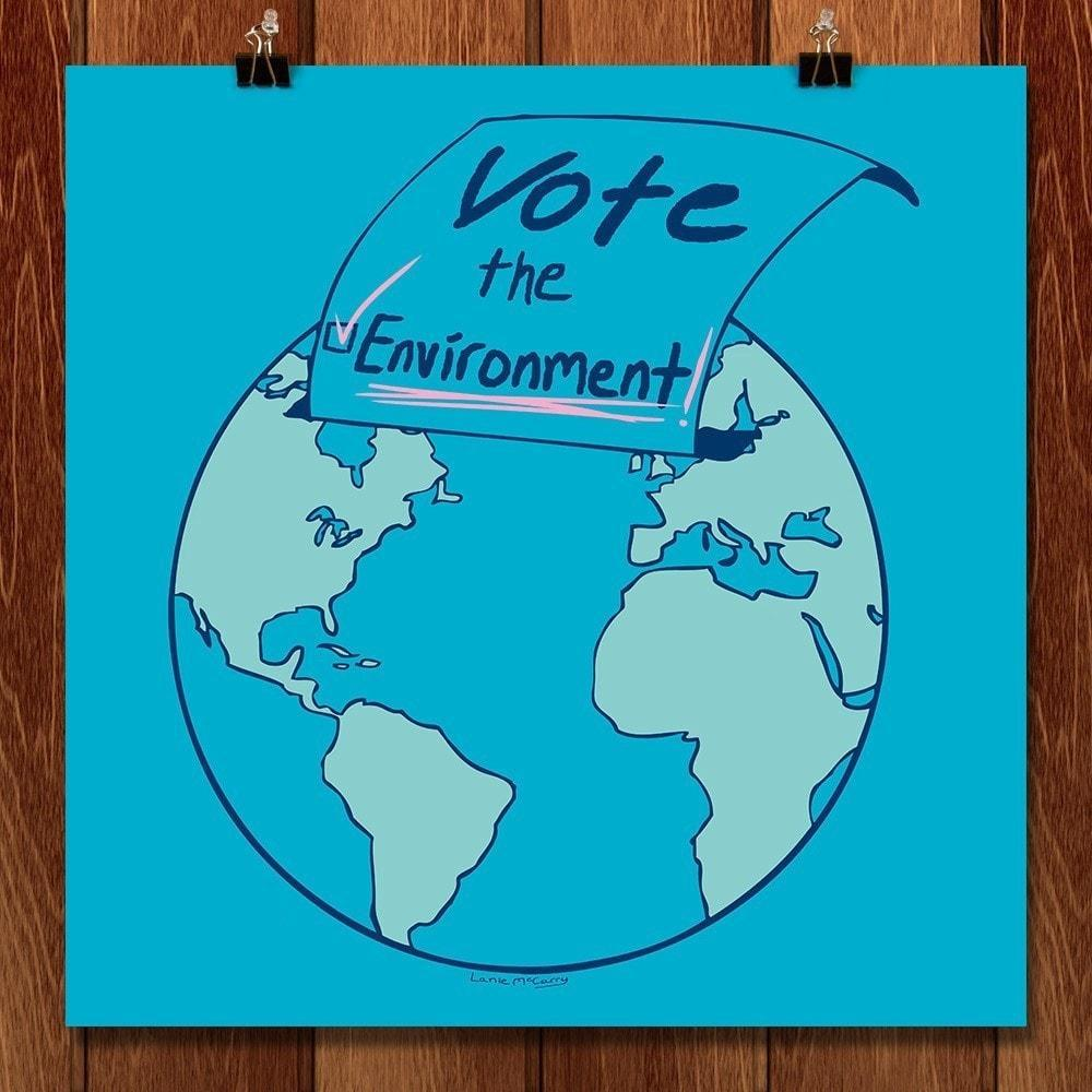 Vote the Environment in Blue by Lanie McCarry