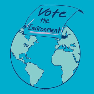 "Vote the Environment in Blue by Lanie McCarry 12"" by 12"" Print / Unframed Print Vote the Environment"