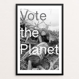 "Vote the Planet by Christopher Davenport 12"" by 18"" Print / Framed Print Vote Our Planet"