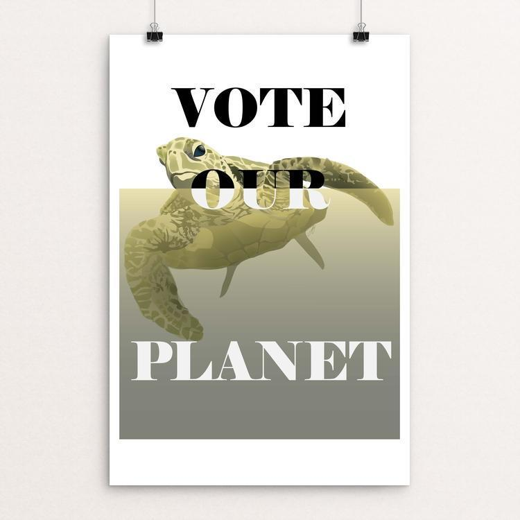 "Vote the Water by Lyla Paakkanen 12"" by 18"" Print / Unframed Print Vote Our Planet"