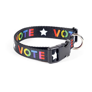 Vote With Pride Dog Collar by Susanne Lamb Pet Accessories Creative Action Network