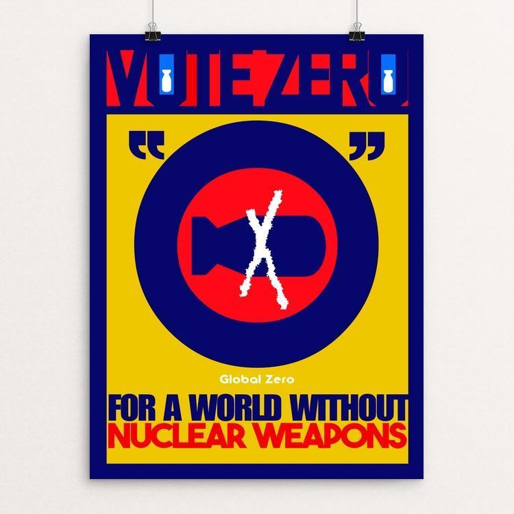"VOTE ZERO 5 by BOB RUBIN 12"" by 16"" Print / Unframed Print Demand Zero!"