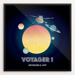 "Voyager 1 by Marcos Carvalho 12"" by 12"" Print / Framed Print Space Horizons"