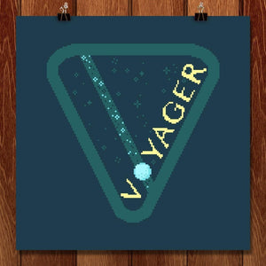"Voyager 1 by Sarajea Martin 12"" by 12"" Print / Unframed Print Space Horizons"