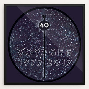 "Voyager 40th by Bryan Bromstrup 12"" by 12"" Print / Framed Print Space Horizons"