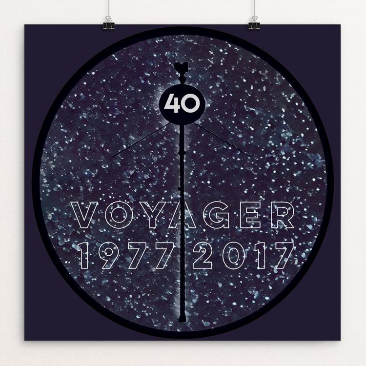 "Voyager 40th by Bryan Bromstrup 12"" by 12"" Print / Unframed Print Space Horizons"