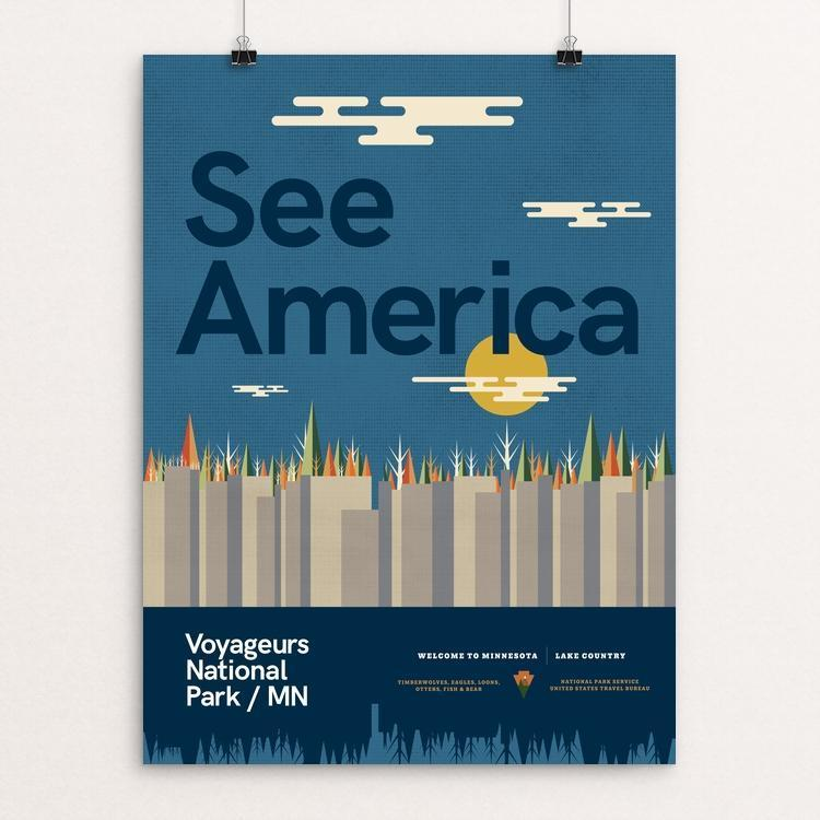 "Voyageurs National Park by Ben Johnson 12"" by 16"" Print / Unframed Print See America"