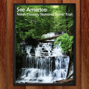 "Wagner Falls, North Country National Scenic Trail by Katie 12"" by 16"" Print / Framed Print See America"