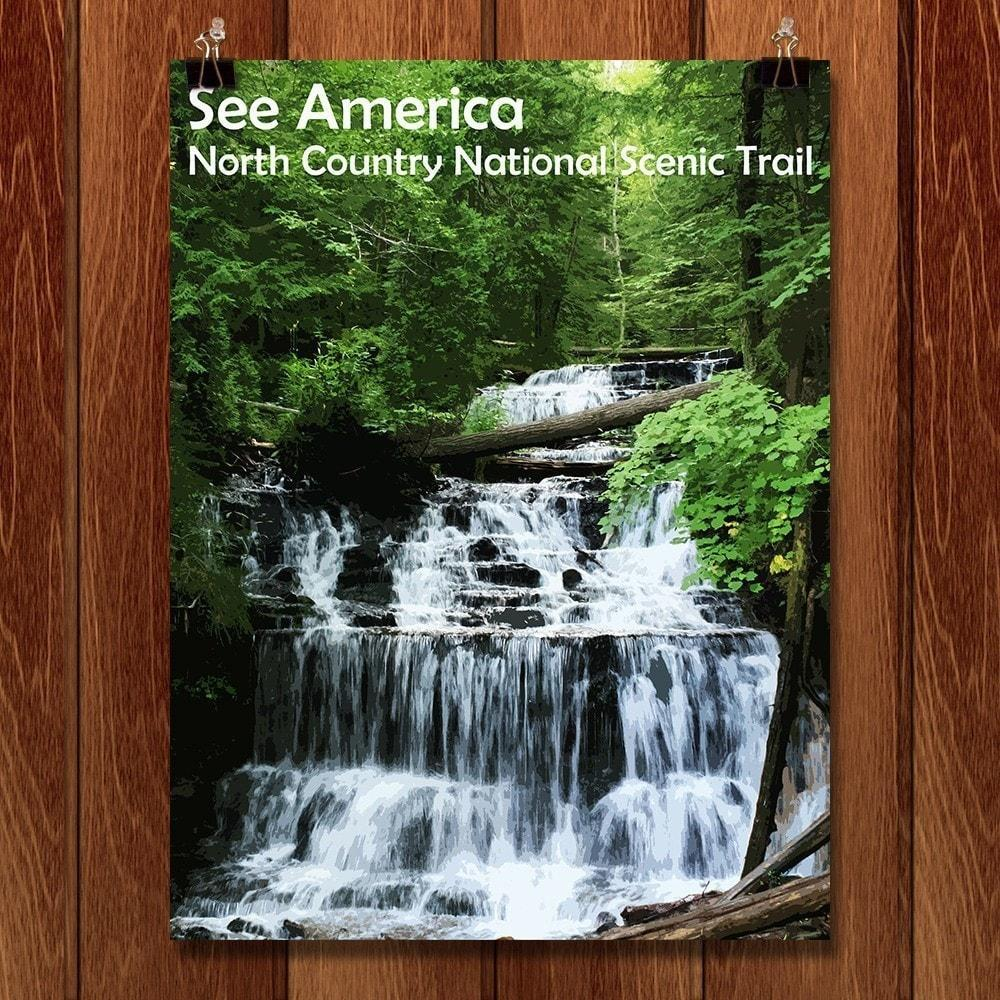 "Wagner Falls, North Country National Scenic Trail by Katie 12"" by 16"" Print / Unframed Print See America"