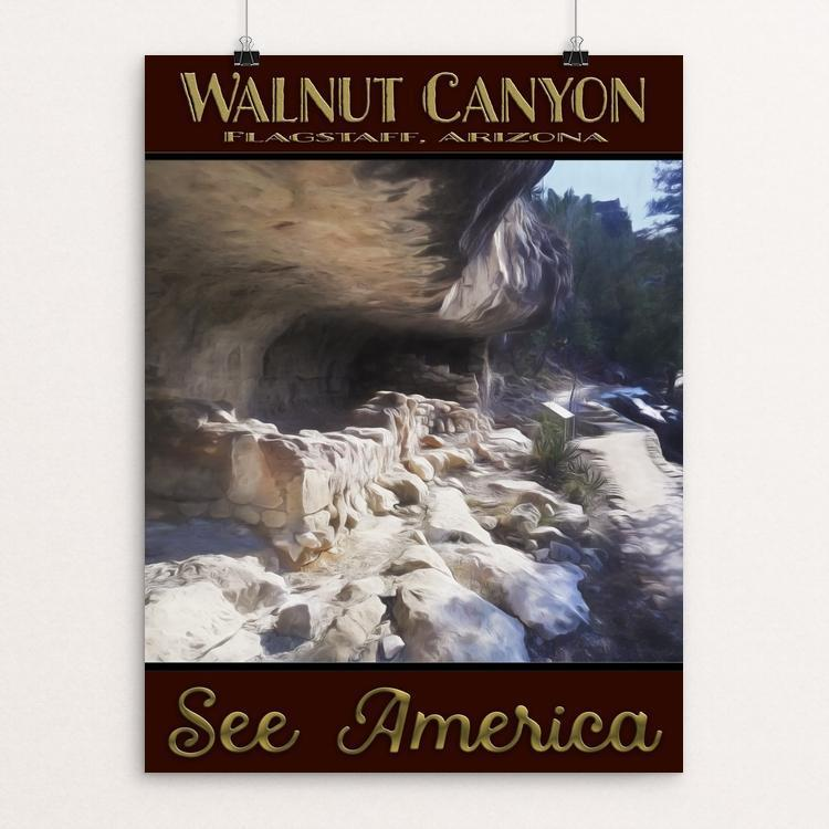 "Walnut Canyon by Sheri Emerson 12"" by 16"" Print / Unframed Print See America"