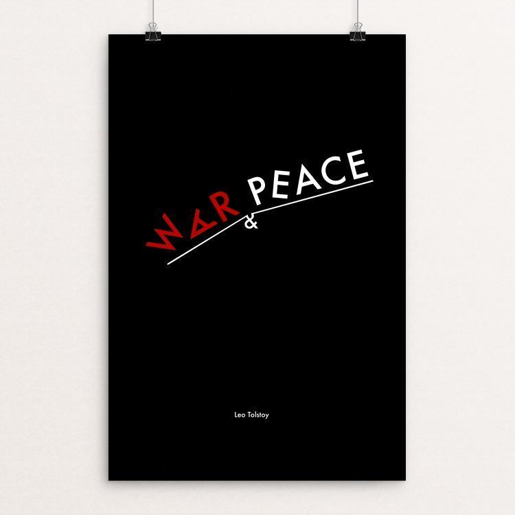 "War and Peace by Chun Wing Ng 12"" by 18"" Print / Unframed Print Recovering the Classics"