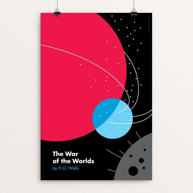 "War of the Worlds by Luis Prado 12"" by 18"" Print / Unframed Print Recovering the Classics"