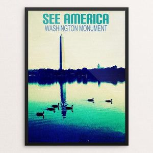 "Washington Monument by Bryan Bromstrup 12"" by 16"" Print / Framed Print See America"