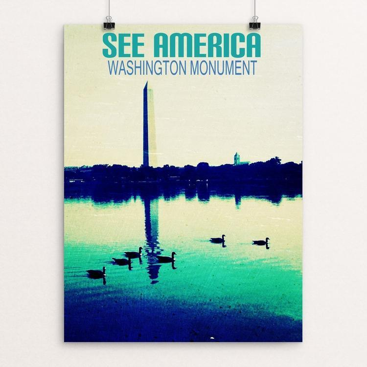 "Washington Monument by Bryan Bromstrup 12"" by 16"" Print / Unframed Print See America"
