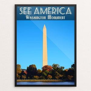 "Washington Monument by Zack Frank 12"" by 16"" Print / Framed Print See America"