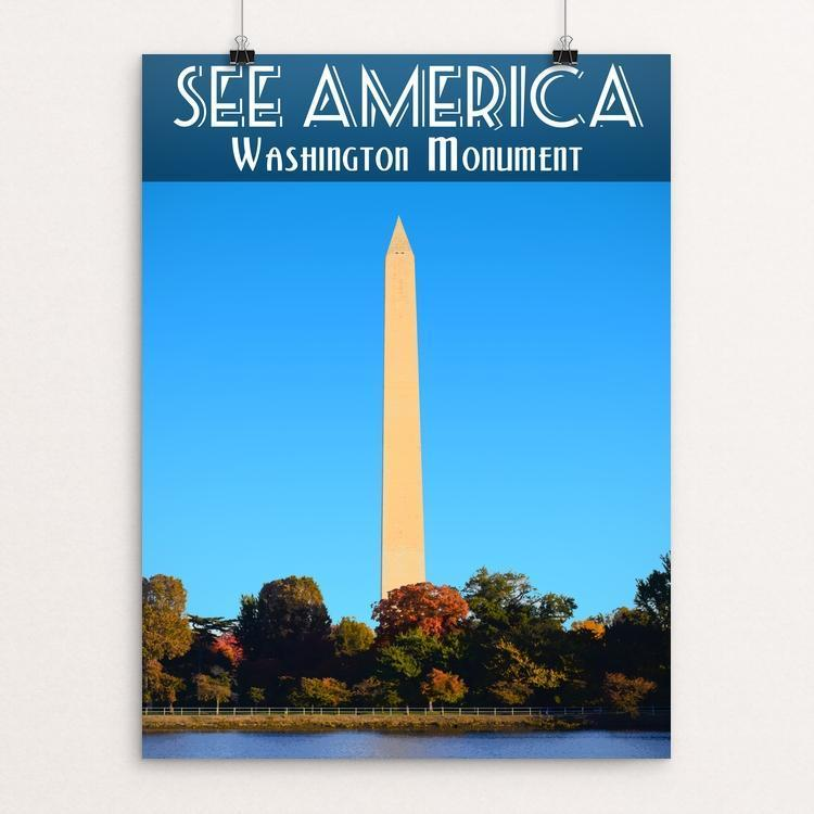 "Washington Monument by Zack Frank 12"" by 16"" Print / Unframed Print See America"