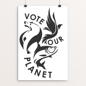 "Water | Earth | Air by Bredon Patter 12"" by 18"" Print / Unframed Print Vote Our Planet"