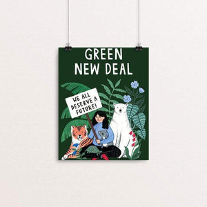 "We all deserve a future by Holly Maguire 8"" by 10"" Print / Unframed Print Green New Deal"