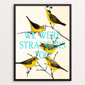 "We are strangers too by Sedki Alimam 12"" by 16"" Print / Framed Print We Were Strangers Too"