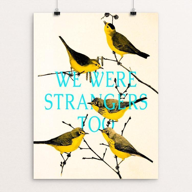 "We are strangers too by Sedki Alimam 12"" by 16"" Print / Unframed Print We Were Strangers Too"