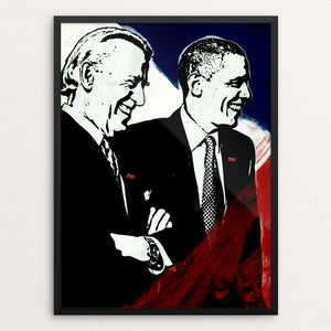 "We Believe by Mark Forton 12"" by 16"" Print / Framed Print Design For Obama"