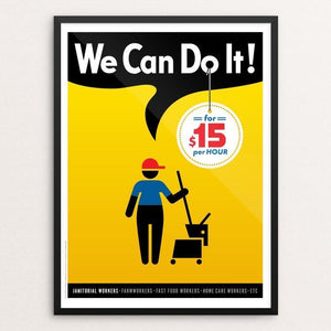 "We Can Do It! #1 by Luis Prado 12"" by 16"" Print / Framed Print We Can Do It!"
