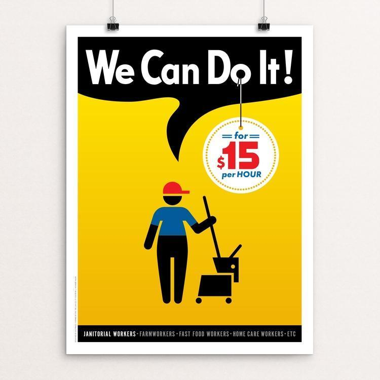 "We Can Do It! #1 by Luis Prado 12"" by 16"" Print / Unframed Print We Can Do It!"