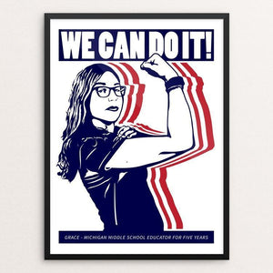 "We Can Do It! 1 by Mark Forton 12"" by 16"" Print / Framed Print We Can Do It!"