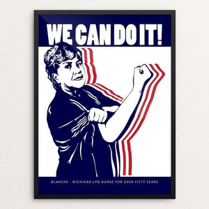 "We Can Do It! 2 by Mark Forton 12"" by 16"" Print / Framed Print We Can Do It!"