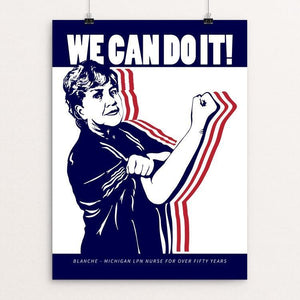 "We Can Do It! 2 by Mark Forton 12"" by 16"" Print / Unframed Print We Can Do It!"