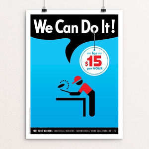"We Can Do It! #3 by Luis Prado 12"" by 16"" Print / Unframed Print We Can Do It!"