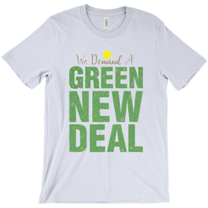 We Demand A Green New Deal Men's T-Shirt by Shane Henderson Baby Blue / Extra Small (XS) T-Shirt Green New Deal